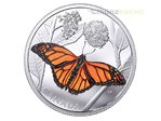 50 $ Dollar Monarch Butterfly - Monarchfalter Kanada 3 oz Silber PP 2017 **