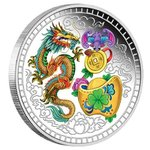 1 $ Dollar Chinese Blessings Tuvalu 1 oz Silber PP 2018 **
