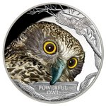 1 $ Dollar Endangered & Extinct Powerful Owl Riesenkauz Tuvalu 1 oz Silber PP 2018 **