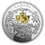 30 $ Dollar Golden Maple Leaf Kanada 2 oz Silber & Gold PP 2018 **