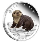 50 Cents Polar Babies Sea Otter Seeotter Tuvalu 1/2 oz Silber 2017 PP **