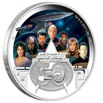 2 $ Dollar 30th Anniversary Star Trek Enterprise The Next Generation Tuvalu 2 oz Silber PP 2017 **