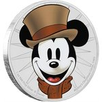 2 $ Dollar Disney Through the Ages Mickey Mouse - Christmas Carol Niue Island 1 oz Silber 2017 **