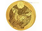 100 Francs Lunar Ounce Year of the Dog Hund Ruanda 1 oz Gold BU 2018