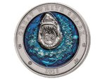 5 $ Dollar Underwater World - Great White Shark - Weißer Hai High Relief Barbados 3 oz Silber 2018