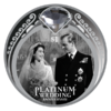 1 $ Dollar Platinum Wedding Queen Elizabeth & Prince Philip Neuseeland 1 oz Silber PP 2017 **