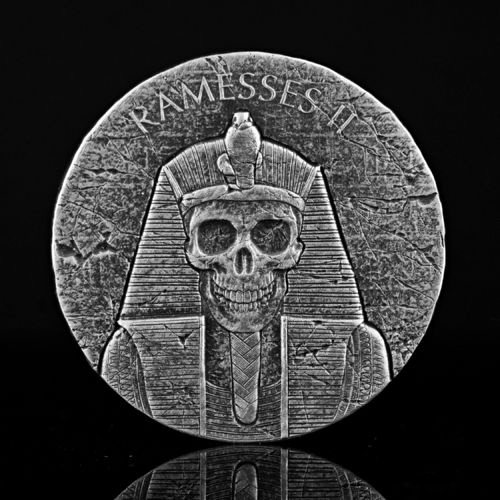 1000 Francs Egyptian Relic Ramesses II Afterlife Ramses II Jenseits Tschad Chad 2 oz Silber 2017 **