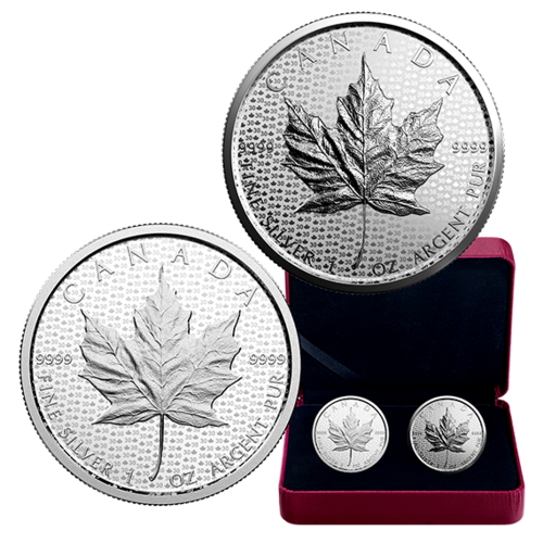 2 X 5 Dollar 30th Anniversary 30 Jahre Silver Maple Leaf Set