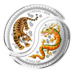 2 x 10 $ Dollar Yin and Yang - Tiger & Dragon - Tiger & Drache Kanada 2 x 1/2 oz Silber PP 2018 **