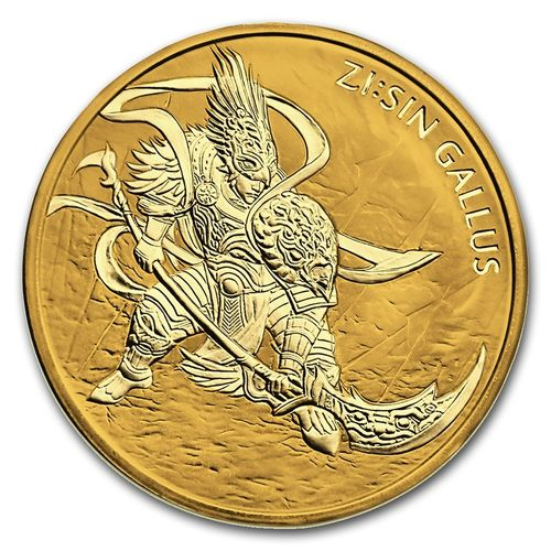 1 Clay ZI:SIN Gallus South Korea Südkorea 1 oz Gold 2017