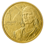 100 $ Dollar 250th Anniversary of the Birth of Tecumseh Kanada Gold PP 2018