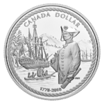 1 $ Proof Silver Dollar 240th Anniversary of Captain Cook at Nootka Sound Kanada Silber PP 2018 **