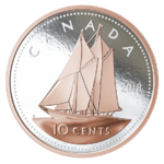 10 Cents Big Coin Series Bluenose Kanada 5 oz Silber PP 2018 **