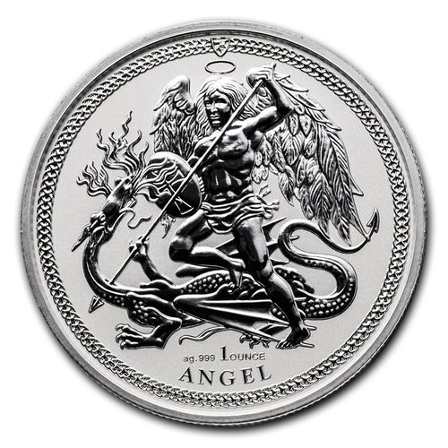 1 Angel Engel Isle of Man 1 oz Silber 2017 Reverse Proof **