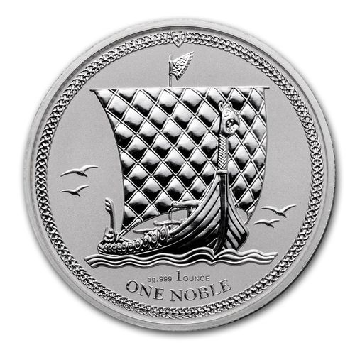 1 Noble Engel Isle of Man 1 oz Silber 2017 Reverse Proof **