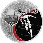 3 Rubel Fussball WM Fifa World Cup Host City Sotchi Sochi Russland 1 oz Silber PP 2018