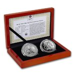 2 x 1 Angel Engel Proof / Reverse Proof Set Isle of Man 2 x 1 oz Silber 2017 PP - Reverse Proof **
