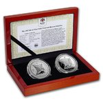 2 x 1 Noble Proof / Reverse Proof Set Isle of Man 2 x 1 oz Silber 2017 PP - Reverse Proof **