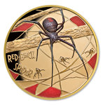 100 $ Dollar Deadly & Dangerous - Red-Back Spider Rotrückenspinne Niue Island 1 oz Gold 2018