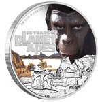 1 Dollar 50th Anniversary Planet of the Apes - Planet der Affen Tuvalu 1 oz Silber PP 2018 **