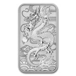 1 $ Dollar Dragon Drache Rectangular Coin Bar - Barren Australien 1 oz Silber 2018 **