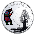 3 $ Dollar 13 Teachings From Grandmother Moon - Bear Moon Kanada 1/4 oz Silber PP 2018 **