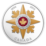 20 $ Dollar Canadian Honours 25th Anniversary Star Military Valour Kanada 1 oz Silber PP 2018 **
