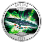 10 $ Dollar Star Trek Iconic Starships Enterprise The Next Generation Kanada Silber PP 2018 **