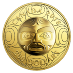200 $ Dollar Ancestor Moon Mask Ultra High Relief Kanada Gold PP 2018