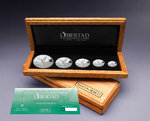 5 Münzen - 5 Coin Libertad Silver Proof Set Mexiko Silber PP 2018 **