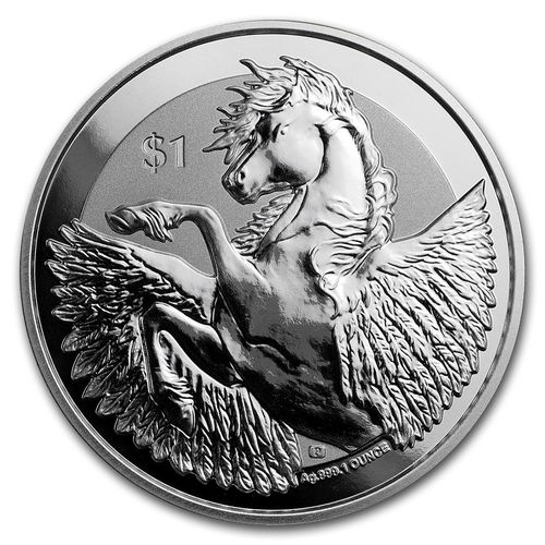 1 $ Dollar Pegasus British Virgin Islands 1 oz Silber 2018 Reverse Frosted **