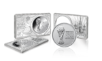 1 oz + 2 oz FIFA World Cup Bar Set - Fussball Weltmeisterschaft Set Russland 3 oz Silber 2018