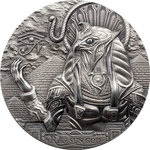 20 $ Dollar Gods of the World Egypt Ra Sun God Ultra High Relief Cook Islands 3 oz Silber 2018 **
