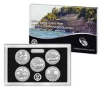 5 x 25 Cents America the Beautiful Quarters Silver Proof Set USA Silber PP 2018 **