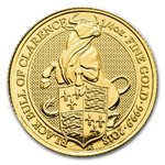 25 Pfund Pounds The Queen's Beasts The Black Bull of Clarence Großbritannien 1/4 oz Gold 2018