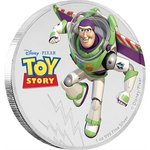 2 $ Dollar Disney Pixar Toy Story - Buzz Lightyear Niue Island 1 oz Silber 2018 **