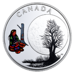3 $ Dollar 13 Teachings From Grandmother Moon - Sugar Moon Kanada 1/4 oz Silber PP 2018 **