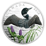 10 $ Dollar The Common Loon - Beauty and Grace Eichtaucher Kanada Silber PP 2018 **