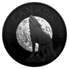 20 $ Dollar Nocturnal by Nature - The Howling Wolf Kanada 1 oz Silber PP 2018 **