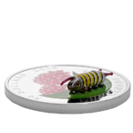 20 $ Dollar Little Creatures - Monarch Caterpillar Raupe - Murano Glas Kanada 1 oz Silber PP 2018 **