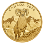 200 $ Dollar Bighorn Sheep - Dickhornschaf Kanada 1 oz Gold PP 2018