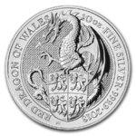 10 Pfund Pounds The Queen's Beasts Red Dragon of Wales Großbritannien UK 10 oz Silber 2018 **