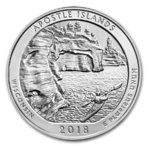 America the Beautiful ATB Apostle Islands National Lakeshore Wisconsin USA 5 oz Unzen Silber 2018 **