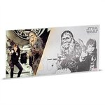 1 $ Dollar Star Wars A New Hope - Han Solo & Chewbacca Silberbanknote Niue Island Silber 2018 **