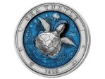 5 $ Dollar Sea Turtle - Meeresschildkröte High Relief Barbados 3 oz Silber 2018
