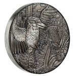 2 $ Dollar Kookaburra High Relief Australien 2 oz Silber Antique Finish 2018 **