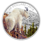 20 $ Dollar Majestic Wildlife - Mettlesome Mountain Goat Schneeziege Kanada 1 oz Silber PP 2018 **