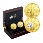2 x 200 $ Dollar Enchanting Maple Leaves Set Kanada 2 x 1 oz Gold  2018
