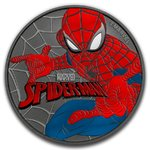 2 $ Dollar Spiderman Coloured Edition Farbe Tuvalu 1 oz Silber + Ruthenium 2017