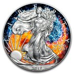 1 $ Dollar American Eagle Yin $ Yang - Fire & Water USA 1 oz Silber 2017